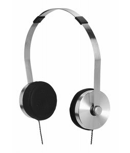 Nixon Apollo 3-Button Mic Headphones Silver/Black