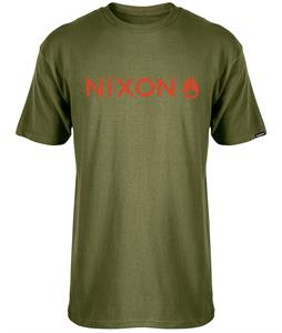 Nixon Basis T-Shirt Military Green/Red Pepper