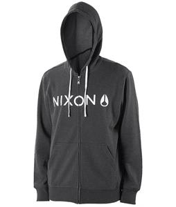 Nixon Lock Up Hoodie Black Heather