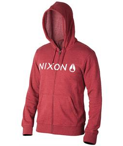 Nixon Lock Up Hoodie Burgundy Heather