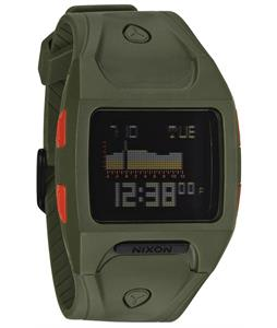 Nixon Lodown Watch Surplus/Neon Orange