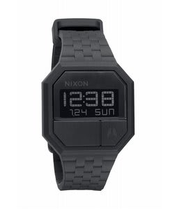 Nixon Rubber Re-Run Watch Black