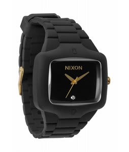 Nixon Rubber Player Watch Matte Black/Gold