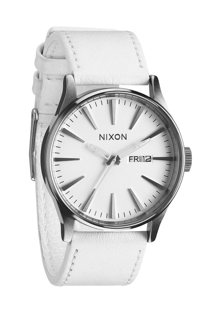 93507bdc214 Nixon Sentry Leather Watch on PopScreen