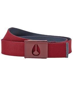 Nixon Spy Belt Burgundy/Midnight Navy