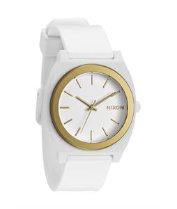 Nixon Time Teller P Watch White/Gold Ano
