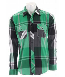 Nomis Big Time Plaid Shirt Emerald Green Big Plaid