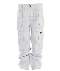 Nomis Connect Cargo Shell Snowboard Pants White Og