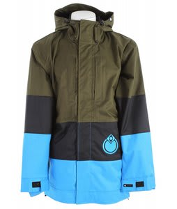Nomis Era Shell Snowboard Jacket Flax/Black/Bright Blue