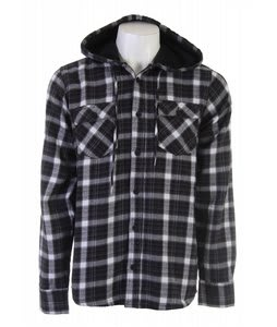 Nomis Lumber Jack Flannel Hooded Shirt Flannel White