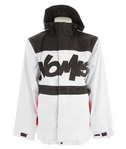 Nomis Tony Shell Snowboard Jacket White