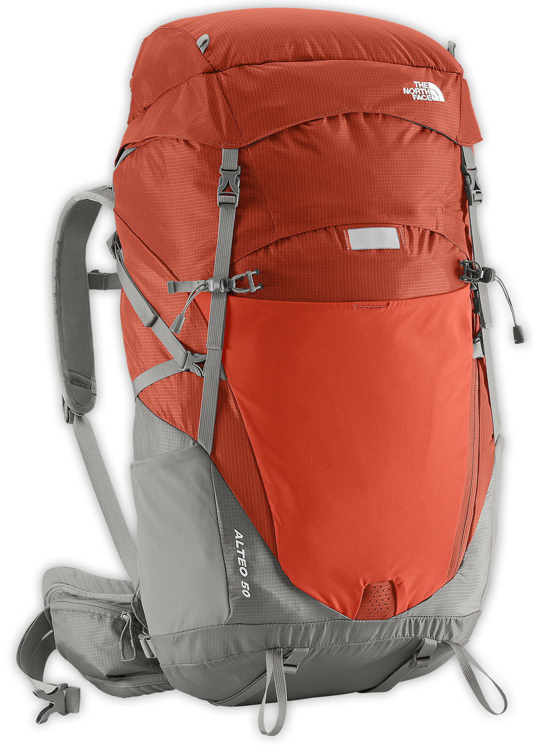 The North Face Alteo 50 Backpack Red Clay/Q-Silver Grey 50L (S/M)
