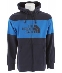 The North Face Barker Blocked Full Zip Hoodie Deep Water Blue