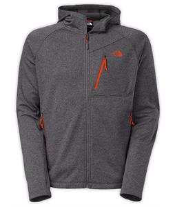 The North Face Canyonlands Hoodie Full Zip Fleece Vanadis Grey Heather/Valencia Orange