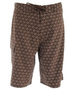 The North Face Class V Stretch Printed Boardshorts Burrow Brown/TNF White