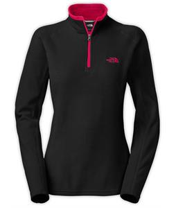 The North Face Glacier 1/4 Zip Fleece TNF Black/Cerise Pink Heather