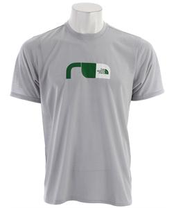 The North Face Graphic Reaxion Crew T-Shirt High Rise Grey/Arden Green/TNF White