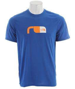 The North Face Graphic Reaxion Crew T-Shirt Nautical Blue/Koi Orange/TNF White