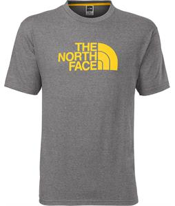 The North Face Half Dome T-Shirt Charcoal Grey Heather/Canary Yellow