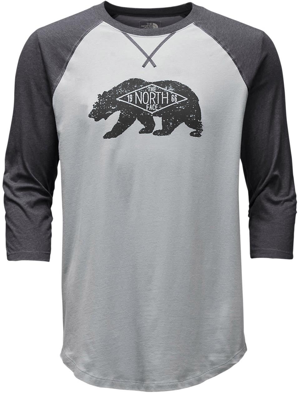 The North Face Heritage Bear Cub 3/4 Sleeve Raglan nf3hbc3s02tmgh17zz-the-north-face-shirts-polos