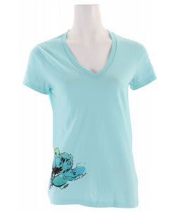 The North Face Indoflora V-Neck T-Shirt Bonnie Blue