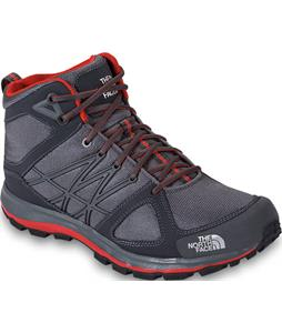 The North Face Litewave Mid Hiking Boots Zinc Grey/Fiery Red