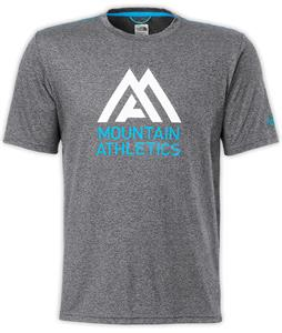 The North Face MA Graphic Reaxion Amp Crew Shirt Asphalt Grey Heather/Quill Blue