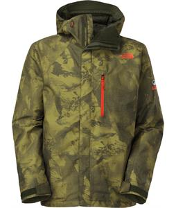 The North Face NFZ Insulated Ski Jacket Forest Night Green Camo Print