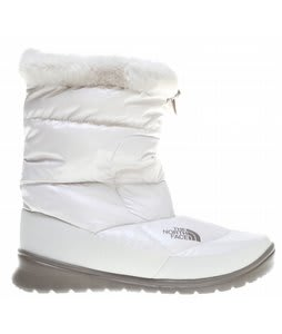 The North Face Nuptse Fur IV Boots Shiny Moonlight Ivory/Classic Khaki