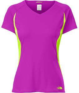The North Face Reflex V-Neck Shirt Magic Magenta/Safety Green