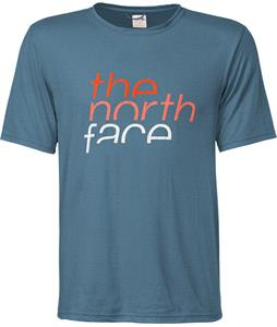 The North Face Rising Reaxion Crew T-Shirt Snorkel Blue Heather