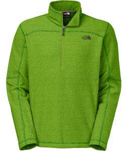 The North Face Texture Cap Rock 1/4 Zip Fleece Adder Green