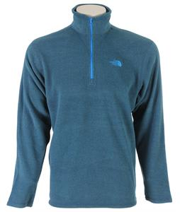 The North Face TKA 100 Microvelour 1/4 Zip Fleece Graphite Grey Heather/Drummer Blue