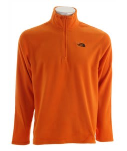 The North Face TKA 100 Microvelour Glacier 1/4 Zip Fleece Oriole Orange