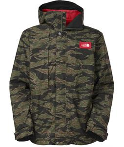 The North Face Turn It Up Ski Jacket Forest Night Green JC Tiger Camo Print