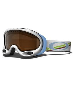 Oakley A Frame Snowboard Goggles Gretchen Bleiler Geo Peaks/Black Iridium Lens