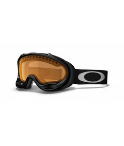 Oakley A Frame Goggles Jet Black/Persimmon Lens