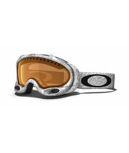 Oakley A Frame Goggles White Factory Text/Persimmon Lens