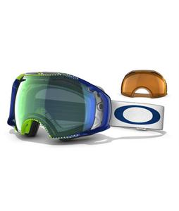 Oakley Airbrake Snowboard Goggles Half Tone Green Blue/Emerald Persimmon Lens
