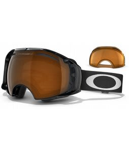 Oakley Airbrake Goggles Jet Black/Black Irid + Persimmon Lens