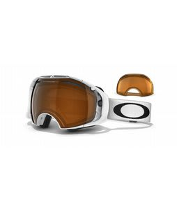 Oakley Airbrake Goggles Polished White/Black Iridium/Persimmon Lens