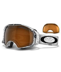 Oakley Airbrake Snowboard Goggles White Factory Text/Black Iridium/Persimmon Lens