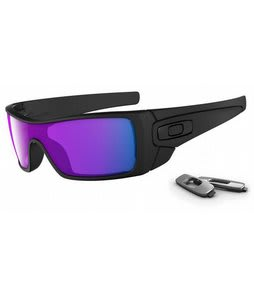 Oakley Batwolf Sunglasses Matte Black/Violet Iridium Lens