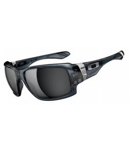 Oakley Big Taco Sunglasses Crystal Black/Black Iridium Lens