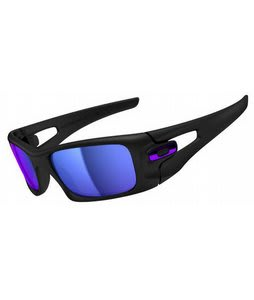 Oakley Crankcase Sunglasses Matte Black/Violet Iridium Lens