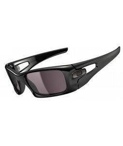 Oakley Crankcase Sunglasses Polished Black/Warm Grey Lens