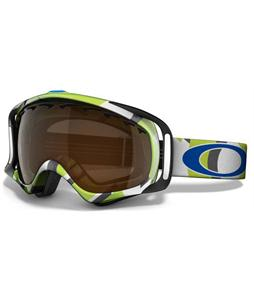 Oakley Crowbar Snowboard Goggles Factory Slant 2 Green/Black Iridium Lens