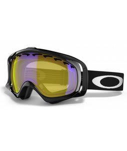 Oakley Crowbar Snowboard Goggles Jet Black/Hi Amber Lens