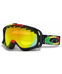 Oakley Crowbar Snowboard Goggles Tanner Hall Rasta Mane/Fire Iridium Lens