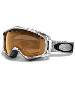 Oakley Crowbar Snowboard Goggles White Factory Text/Persimmon Lens